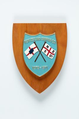 Shield plaque: New Zealand Shipping Company, 1873-1971