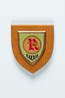Shield plaque: New Zealand Shipping Company cadet ship RAKAIA