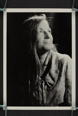 Photograph: Portrait of Phillippa (Pip) Were in profile, looking upwards, half length, 1967