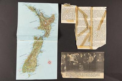 Archive: items from a ten day flight trip of New Zealand by Northland Districts Aero Club of trainee pilots, June 1969