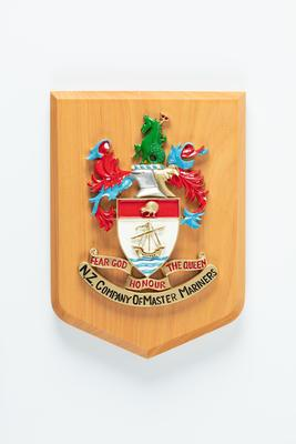 Shield plaque: New Zealand Company of Master Mariners, Coat of Arms