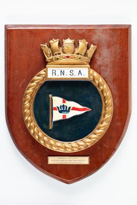 Shield plaque: RNSA (Royal Naval Sailing Association)