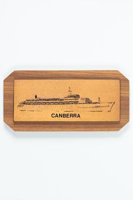 Plaque: souvenir from CANBERRA