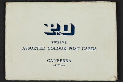 Postcards: Envelope of ten coloured postcards of interior and exterior of SS CANBERRA