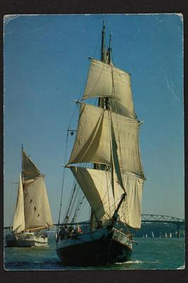 Postcard: Heritage vessels, BREEZE (1981) and TED ASHBY (1993)