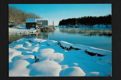 Postcard: Back Cove, New Harbour, Maine