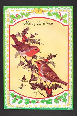Card: To Gerry and Marjorie Clark, Merry Christmas, Happy 1987