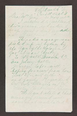 Letter: To Mrs. Grey from G. Walker, 21 May 1943