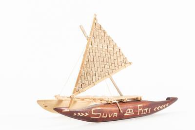 Model: outrigger canoe, SUVA FIJI