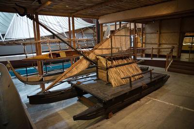 Vessel: Fijian drua SEMA MAKAWA, a double-hulled war canoe.