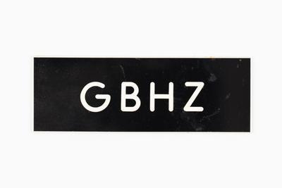 Radio call sign label GBHZ