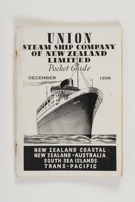 Pocket guide: December 1936 / Union Steam Ship Company of New Zealand Limited.
