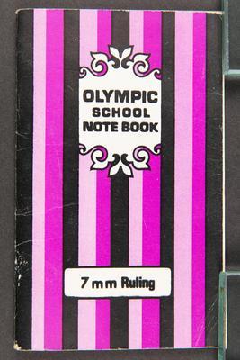 Notebook: Olympic School Notebook, shopping list