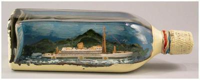 Model: Ship in a bottle, ORANJE (1938)