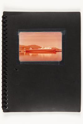 Folder: Black folder with image of MV COASTAL TRADER (1972) on the cover