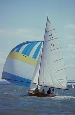 Slide: MYSTERY competing in the Logan M Class Memorial, 1980