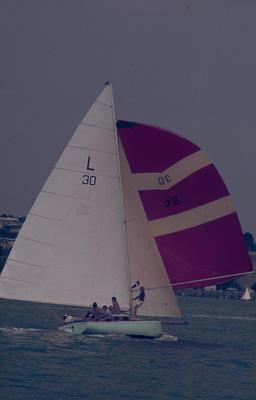 Slide: TIROS competing in the 1977 Lipton Cup race