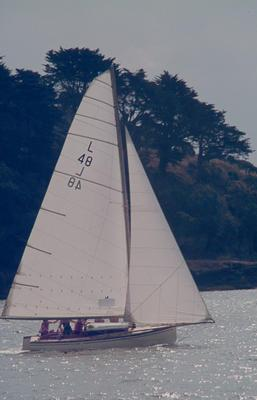 Slide: POLLYANNA competing in the 1977 Lipton Cup race