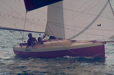 Slide: ORION II competing in the 1977 Lipton Cup race