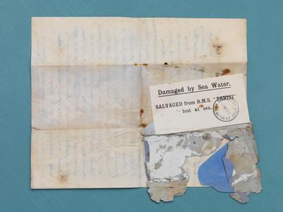 Letters: salvaged from RMS TAHITI (1904)