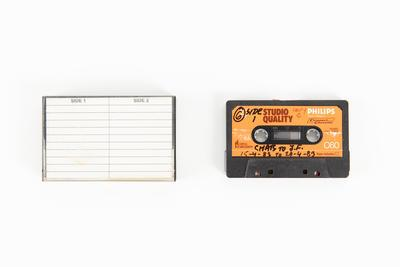 Audio cassette: Copy C of Tape 6. Audio recording made on voyage of TOTORORE, Chatham Islands to Juan Fernández Islands, Chile