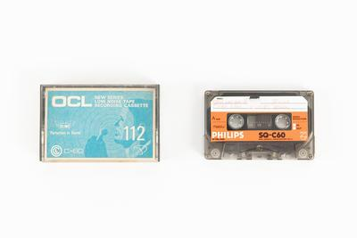 Audio cassette: Copy of Tape 20 and Tape 21, audio recording made on voyage of TOTORORE, Guamblin Island, Quellón and Tenquehuén, Chile