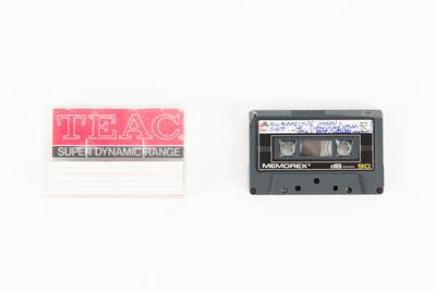 Audio cassette: Copy of Audio recording made on voyage of TOTORORE. Miracle Cove, South Georgia and All Alone Cove, Marion Island