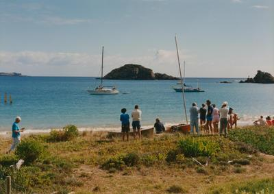 Photograph: Yachts in a bay. Photograph from one of the log books of the TOTORORE