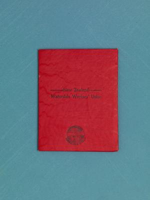 Archive: New Zealand Waterside Workers' Union waterfront lockout card for Frederick Thomas