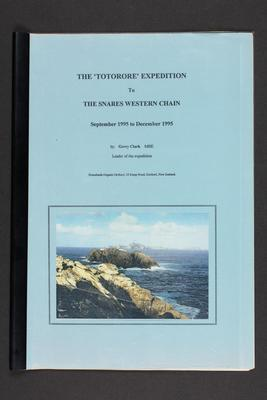 Report: The TOTORORE Expedition to the Snares Western Chain, September 1994 to December 1995